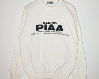 Rare!! Racing PIAA Sweatshirt Spell Out Logo Size Large