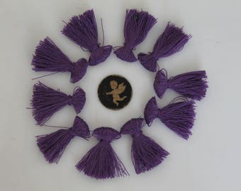 10 charms purple tassel 25 mm - fringe - handmade - jewelry - bracelet