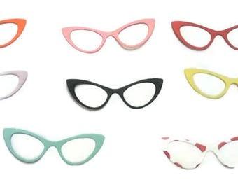Die Cut Glasses, Cat Eye Embellishments, Scrapbooking Embellishment
