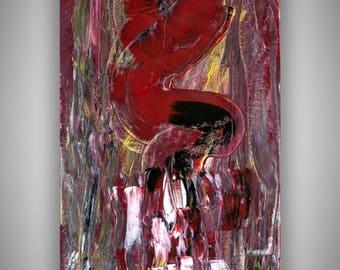 Unique, question mark, acrylic, 30 x 60 cm
