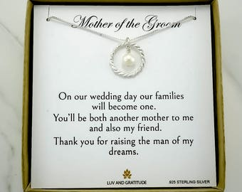 Mother of the Groom Gift,  Gift for Mother of the Groom, Mother in law Necklace, Gift from bride to mother-in-law, 925 Sterling silver