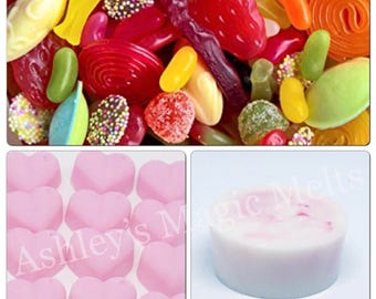 Sweet shop wax melts, bakery wax melts, sweet wax melts, wax cubes, wax tart melts, cheap wax melts, strong wax melts, best wax melts