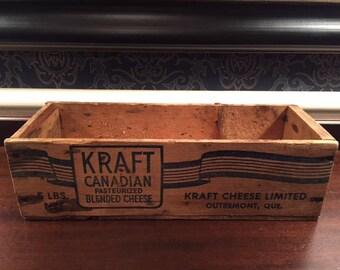 Vintage Kraft Cheese Box Wooden Box Primitive Box