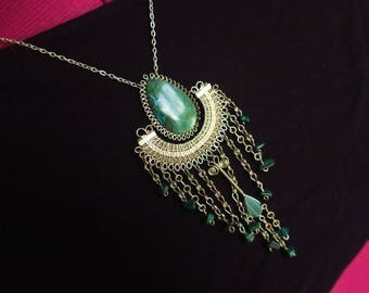 Alambre and Chrysocolla necklace