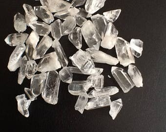 Quartz Crystals Points, clear Arkansas crystal points, bag of 100 grams