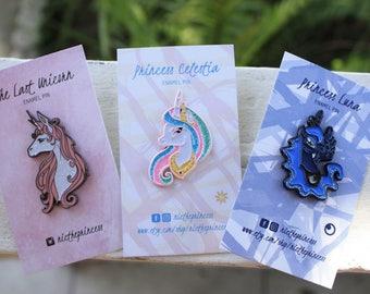 Unicorn enamel pins 3 set