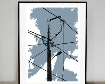 Telegraph Pole   03 art print