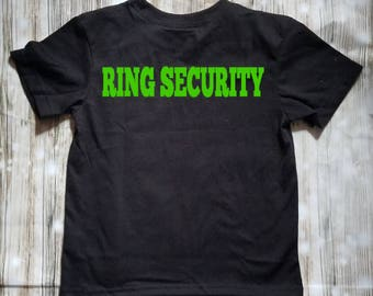 Ring Security Toddler Shirt - Ring Bearer Shirt - Ring Bearer Gift - Reception Clothing - Bridal Party Gifts - Ring Bearer Outfit