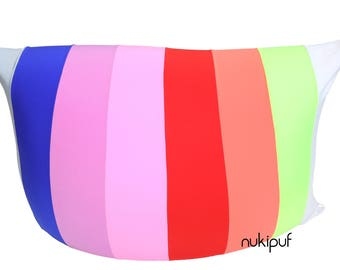 Bean Bag Chair RAINBOW by NUKIPUF kids adults comfortable elastic