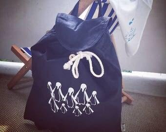 Backpack / / penguins / / printing / / organic / / fabric