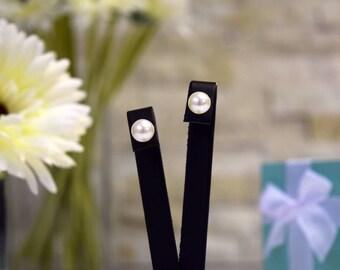 Tiffany & Co Sterling Silver Pearl Stud Earrings