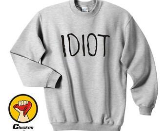 IDIOT Shirt Michael Clifford 5 Seconds Of Summer 5Sos Band Fan tshirt Top Crewneck Sweatshirt Unisex More Colors XS - 2XL