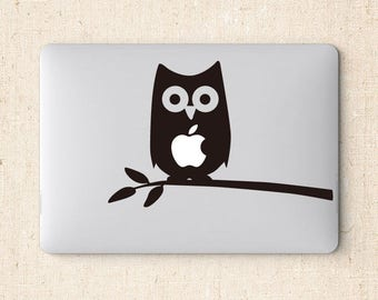 The owl laptop sticker for macbook pro skin macbook sticker macbook air sticker macbook front decal