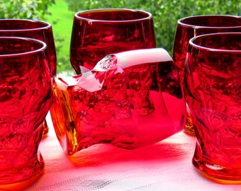 "Fenton-""Georgian""- Ambrina Glass- Set of 6-Pristine Condition-1931-1942-"