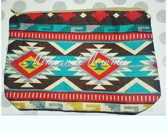 Aztec print purse