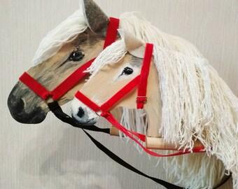 Two hobby horses horse lover gift stick horse stick pony two stick horses hobby horse christmas gift wooden rocking horse stick pony horse lover gift granddaughter negle Images