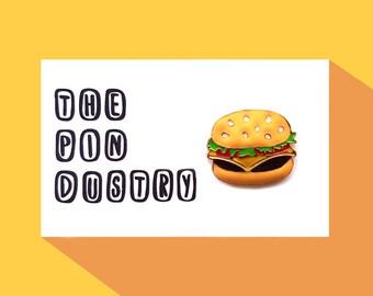 Burger Pin Badge #ThePindustry Pin Badges