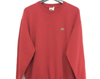 Sale!! LACOSTE Sweatshirt Small Logo Pullover Longsleeve Size 5 Good Condition