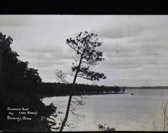 Diamond Lake Point Lake Bemidji Minnesota Real Photo Postcard RPPC Antique Undivided back