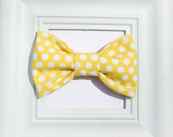 yellow bow tie, Yellow bowtie, newborn bow tie, boys bow tie, baby bow tie, kids bow tie, toddler bow tie, baby bowtie, bow tie