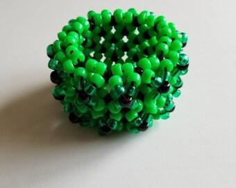 Green and Black 3D Kandi Cuff