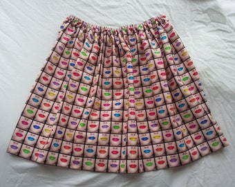 Lips print ladies skirt