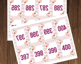 Facebook, Periscope Live Sale Numbers-Numbered Cards-Live Sale-1-400-Ready For Print Mirrored Numbers-Facebook Live Number-INSTANT DOWNLOAD