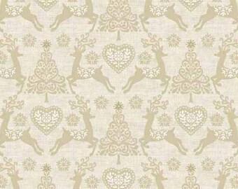 Makower UK - Scandi 4 - Set Reindeer in Gold