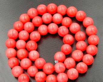 discount -10% Natural Pink Coral Beads, Pink Beads, Pink Gemstone Beads, Stone Beads, Round Natural Beads, 15''5 Full Strand, 3mm 4mm 5mm 6m