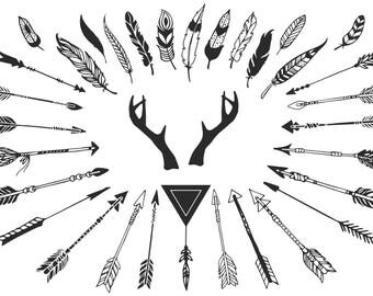 Arrows and Feathers SVG
