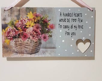 A hundred Hearts would be too few Anniversary Gifts for her Anniversary Gift Ideas Mother of the Bride Gifts for Boyfriend Girlfriend Gifts