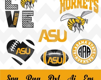 ASU alabama state svg,team,logo,svg,PNG,eps,dxf,cricut,silhouette,collegiate,ncaa,jersey,banner,proud,mom,wife,love,shirt,tigers,Hornets svg