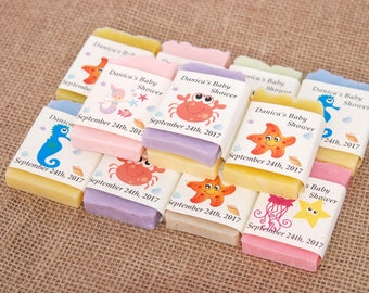 30 mini baby shower soap favors Baby shower soap favors Baby shower Soap favors Rustic guest soap Custom party favors Personalized favors