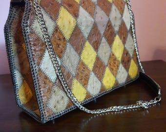 Handmade Ostrich handbag
