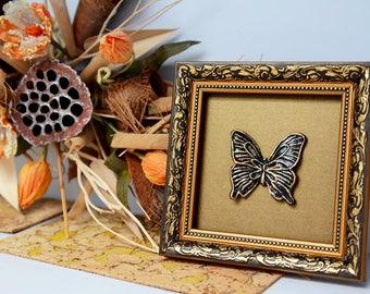 Butterfly art/ gold butterfly wall art/ bronze butterfly wall art/ black wall art/ bronze wall art/ butterfly art/ gold butterfly/ wall art