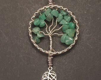 Smoky Green Crystal Tree of Life