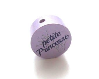 Little Princess wooden - bead purple