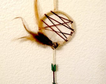 Reiki Art, Reiki Gift, Dream Catcher, Boho Decor, Healing Crystals, Feather Art, Healing, Rustic Pagan Gift, Wicca, Natural Decor, Boho Gift