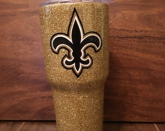 New Orleans Saints Inspired Tumbler, New Orleans Saints, Glitter Tumbler