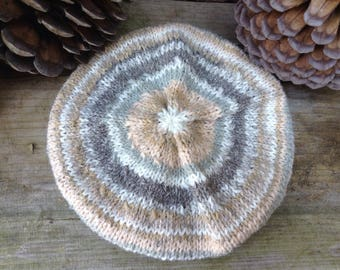 Hand Knitted Blythe Beret & Scarf - Fair Isle Style