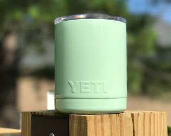 Mint Green Powder Coated Yeti/Insulated Tumbler/Powder Coat/Green Yeti/Birthday Gift/Glitter Yeti/Custom Yeti/Yeti Cup/Yeti Tumbler