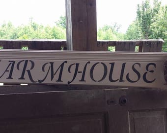 Farmhouse sign with wreath