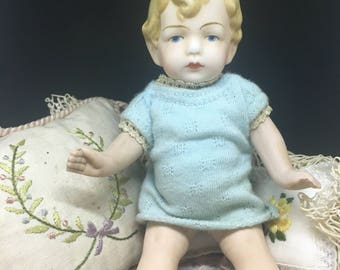 Original Antique Hertwig&Co. Bisque Doll - circa 1910s