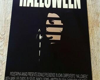 Halloween metal movie poster