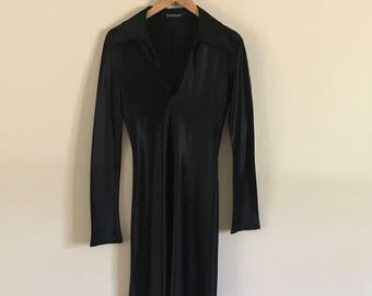Vintage 90s Silk Little Black Dress