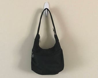 Vintage GUCCI x GR8FULLGIRL G8G Black Canvas and Leather Monogrammed Purse