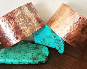 Hammered Copper Cuffs