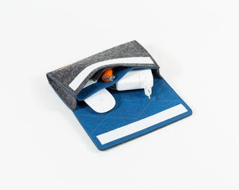 Cable bag, cable bag, laptop accessories, cable case, universal electronics accessories, cable, notebook accessories, felt, handmade [FEMKE]