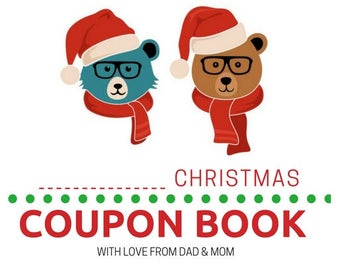 INSTANT DOWNLOAD Christmas Coupon Book For Kids - Boy Version