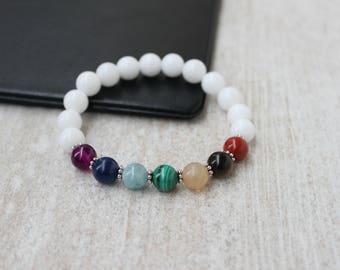 Seven Chakra Bracelet Yoga Bracelet Reiki Jewelry Meditation Gift Seven Chakra Jewelry Energy Healing Bracelet Beaded Bracelet for Women